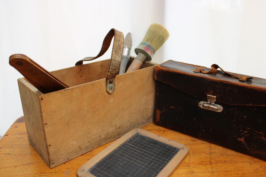 Ancienne boîte en bois