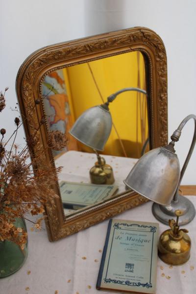 Ancien miroir doré