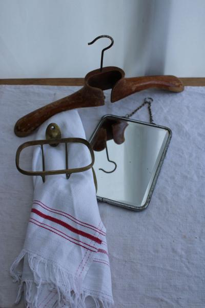 Miroir de barbier biseauté