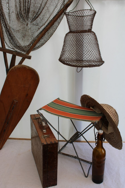 Ancien tabouret de pêcheur